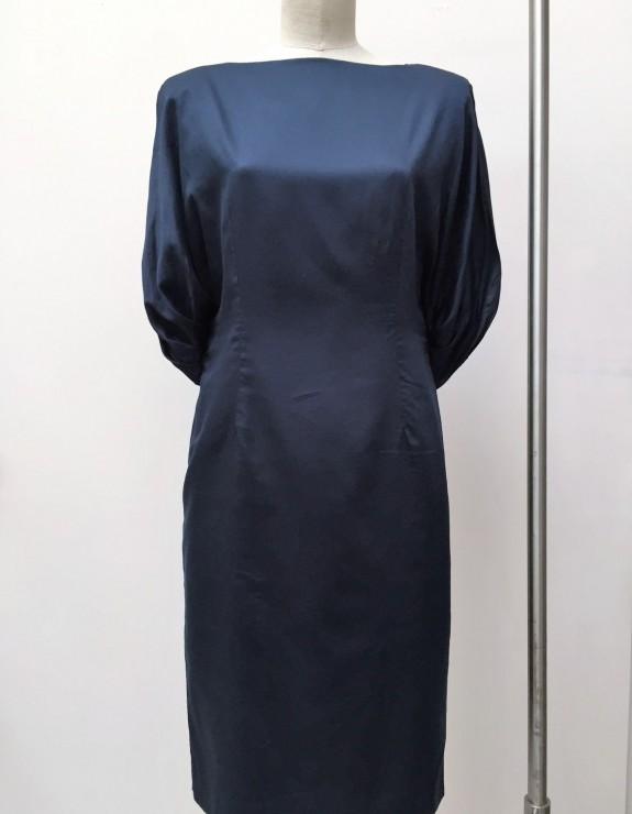 THE DRAPED-SLEEVED DRESS